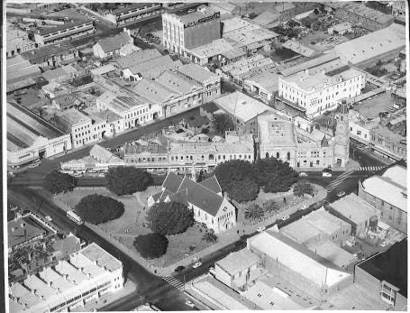 Aerial view of Fremantle taken on 9 July 1957