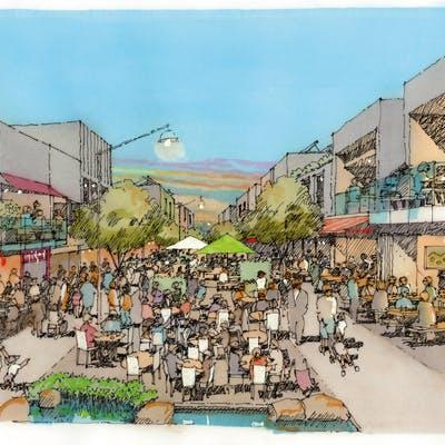Pedestrianised Western Street Vision