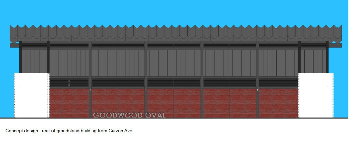 Concept Image of Goodwood Oval Grandstand Back View