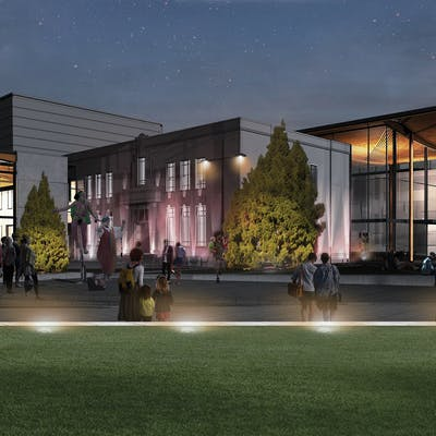 Artists Impression Of The Sir Howard Morrison Centre By Night Including Option Two Courtesy Of Shand Shelton