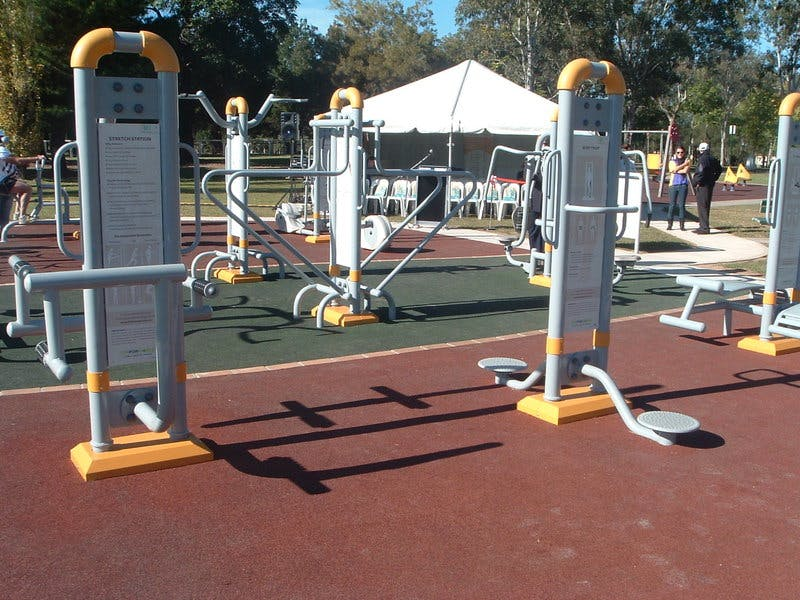 Example of outdoor gym in Liverpool Council area
