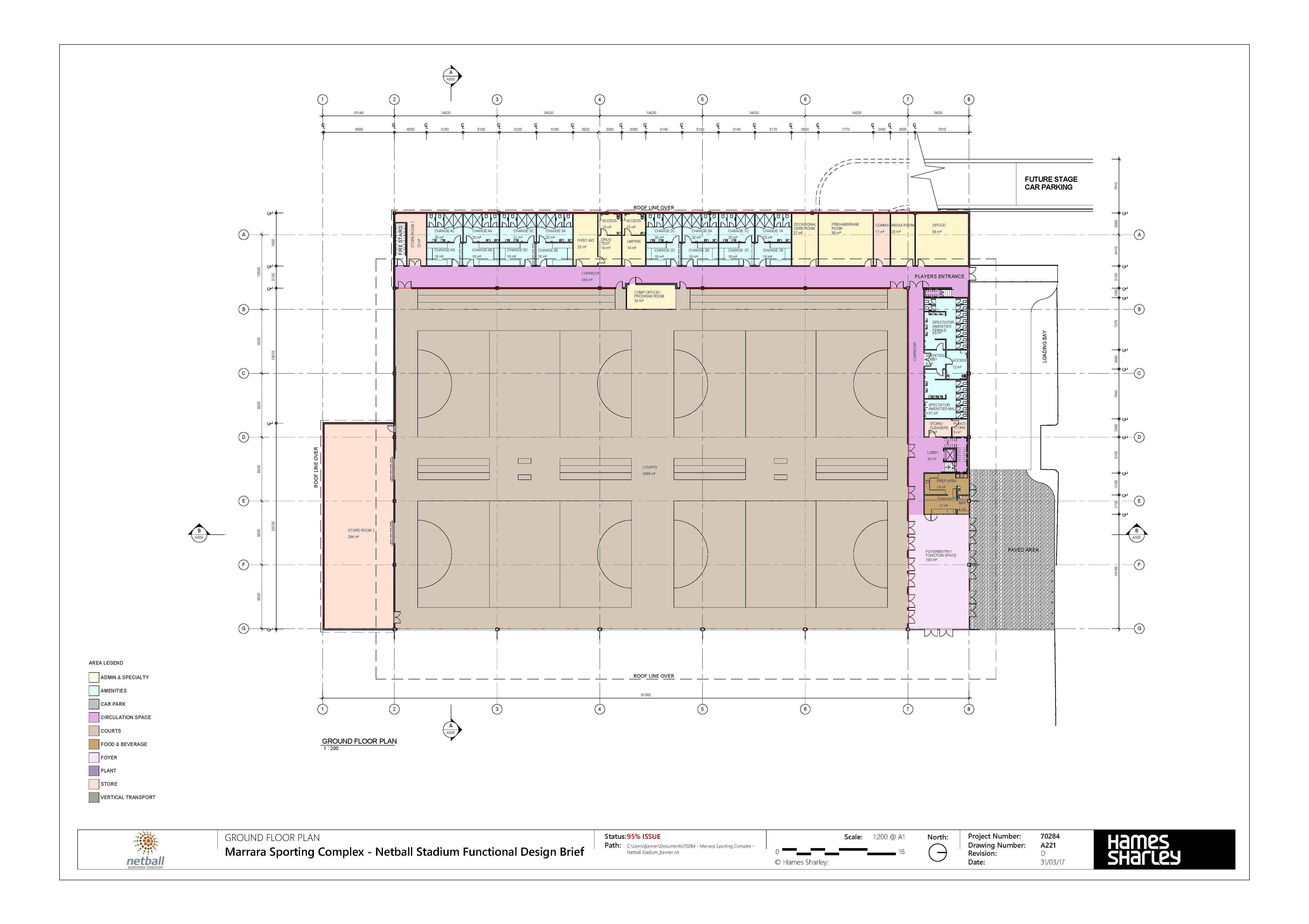 Marrara Netball Centre Drawing 04