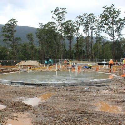 Construction of the Rosebery Sewage Treatment Plant commences
