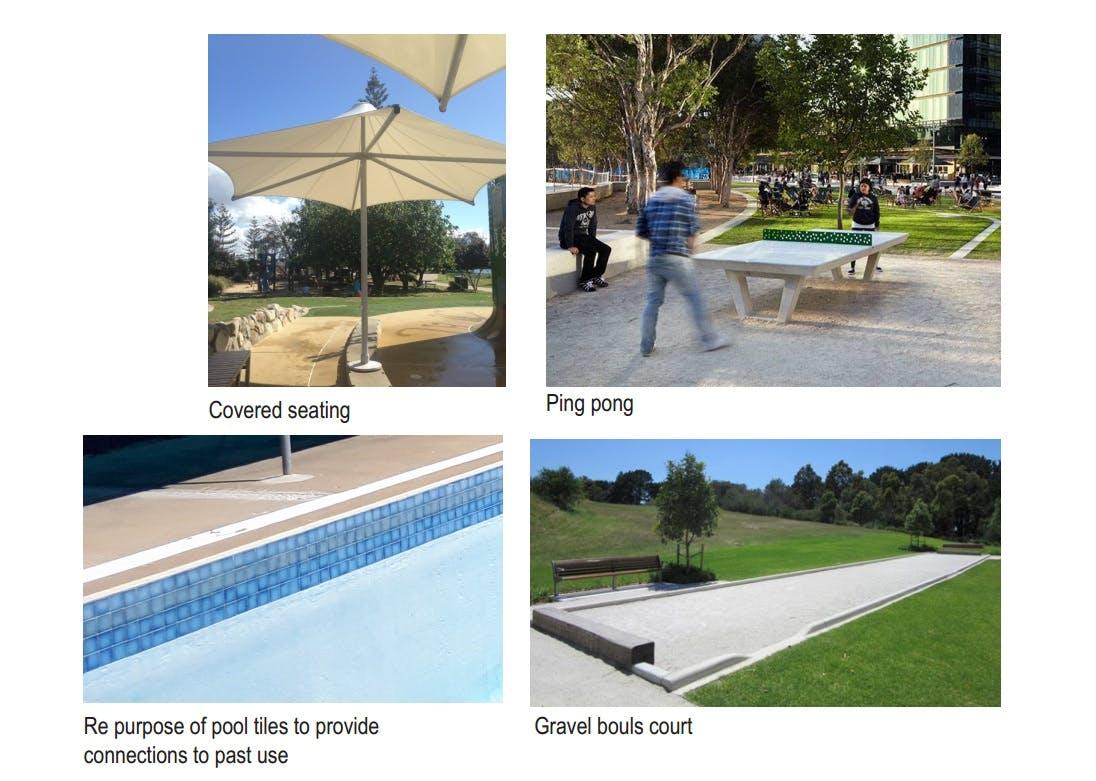 Option 1 Pool elements