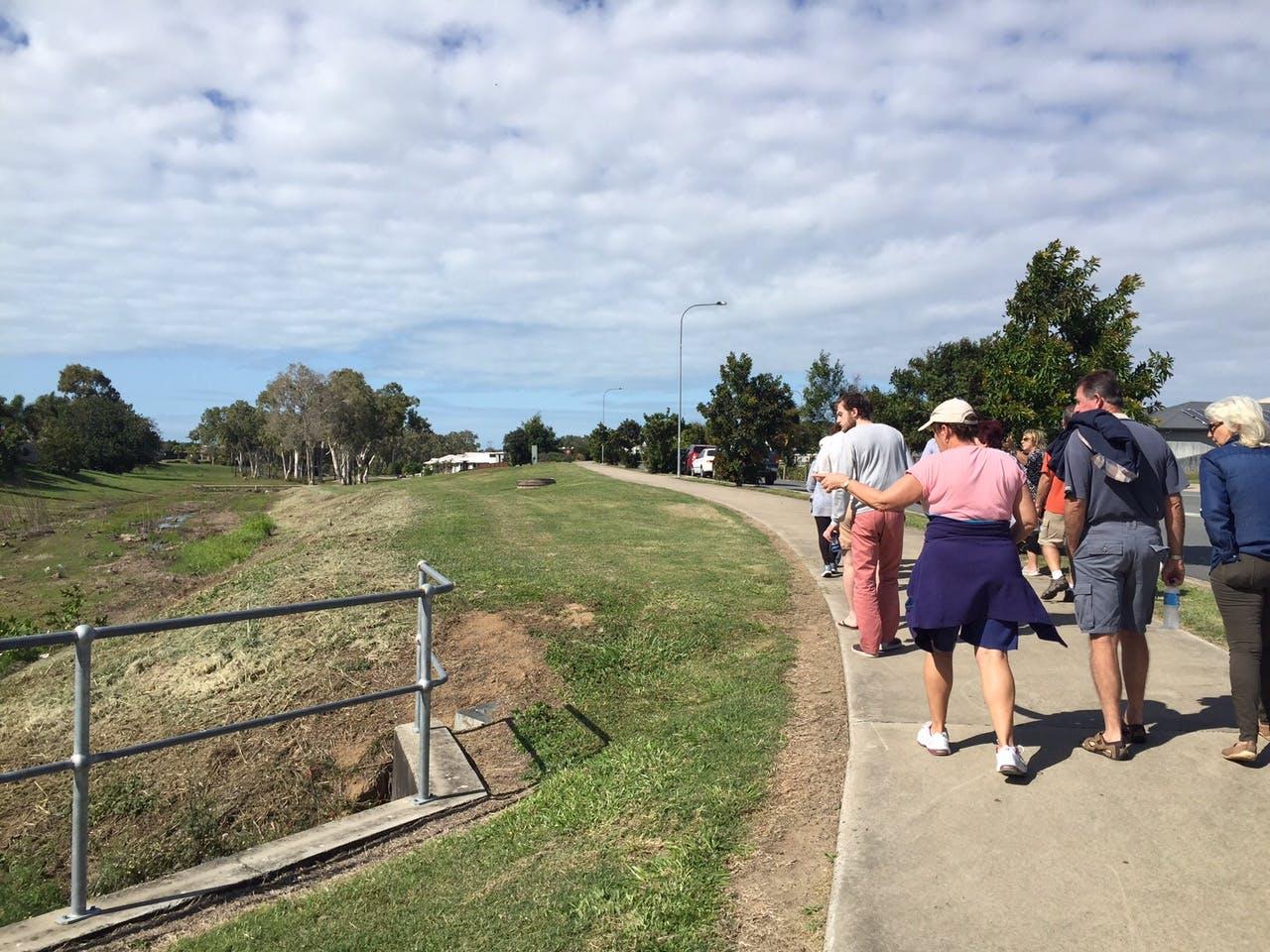 Walking through the site