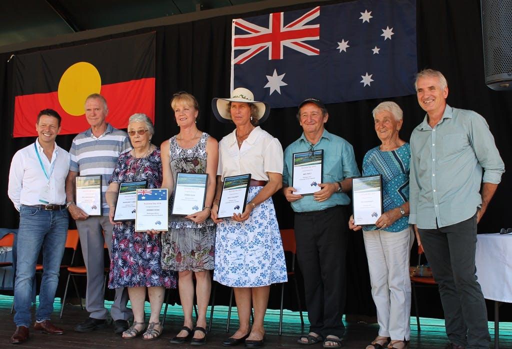 Ambassador Biton with Award recipients and Mayor King