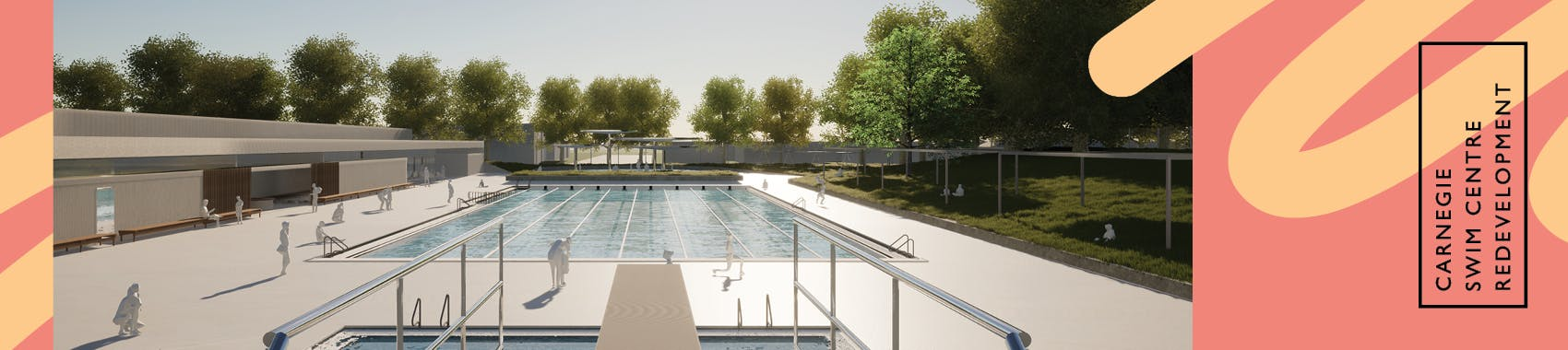 Carnegie Swim Centre - artists impression only
