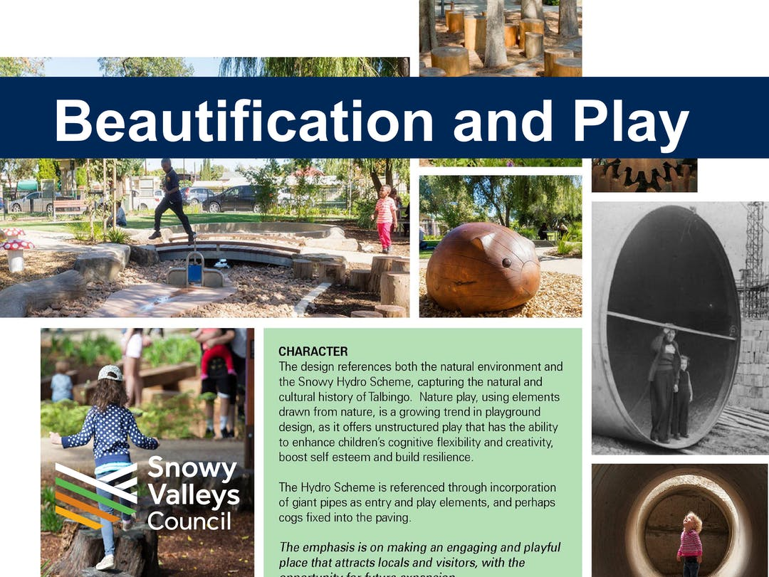 Talbingo beautification and playground 01