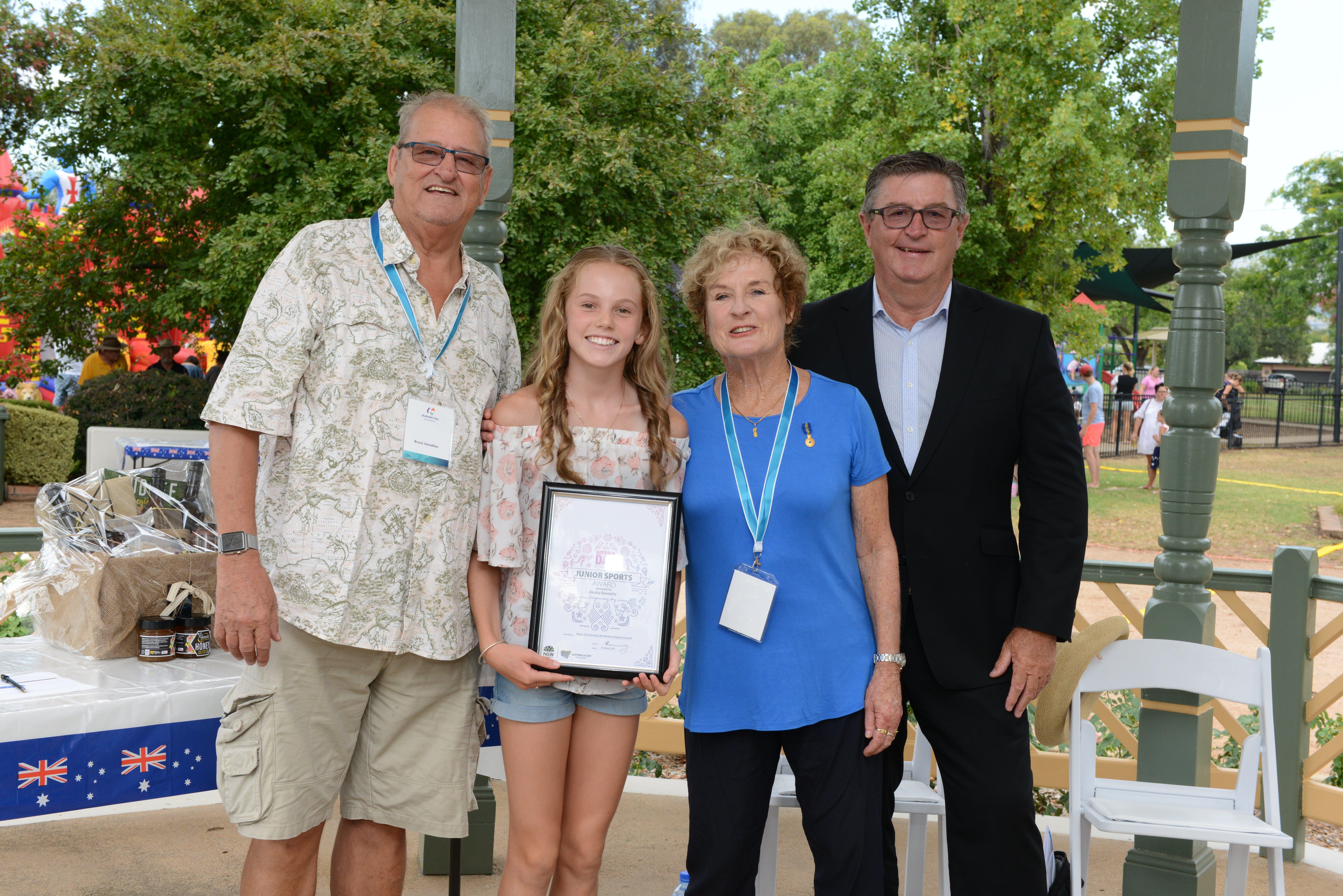 Junior Sports Award Alesha Bennetts