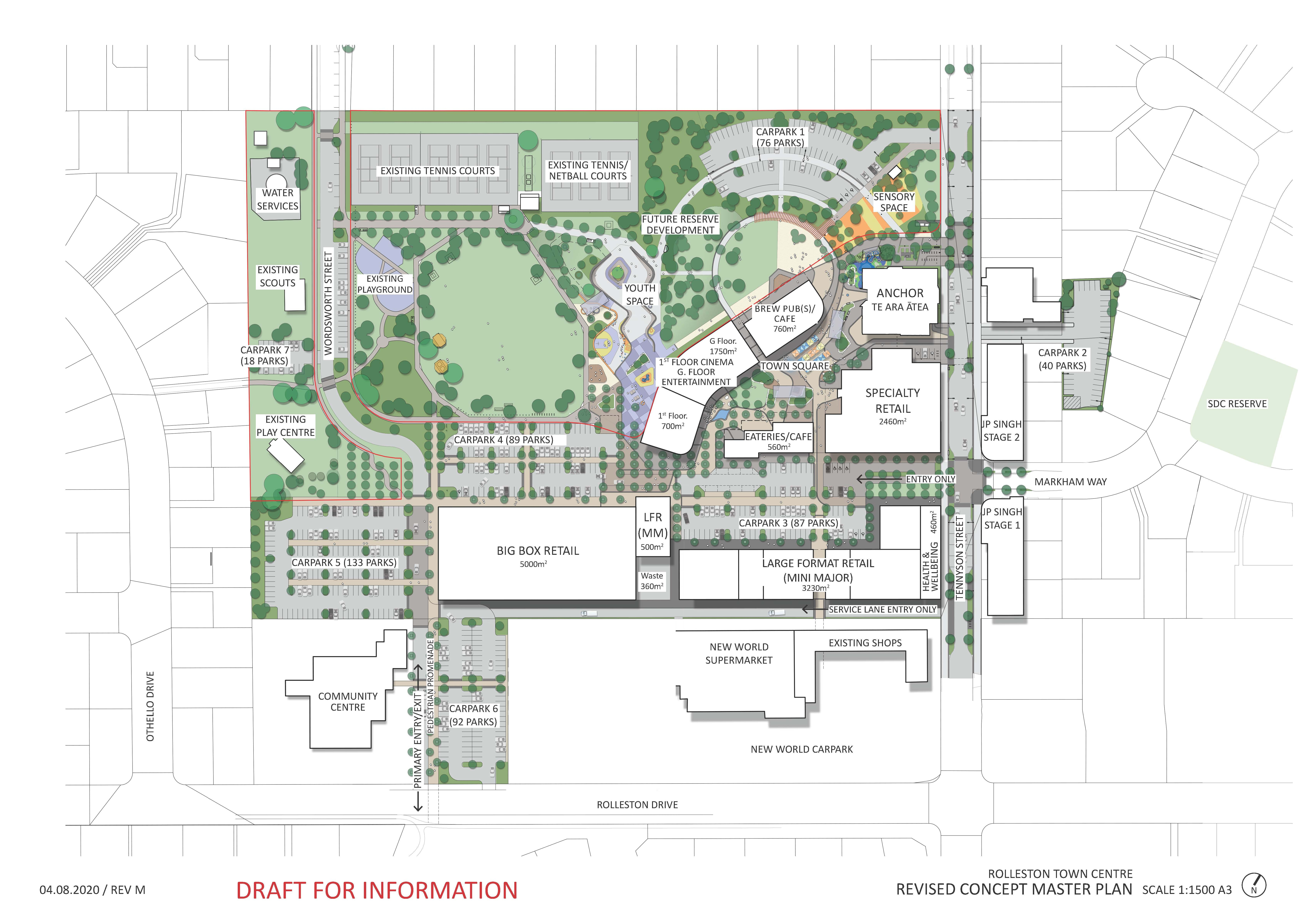 Overview of proposed Rolleston town centre development