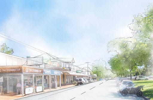 artist drawing Landsborough street