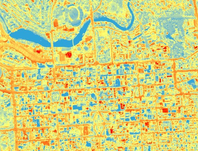 Heat Map image - visit this link to see the whole City and Adelaide