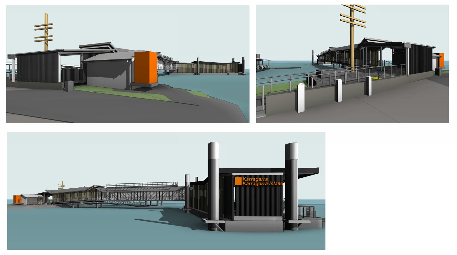 3D images of the future Karragarra Island ferry terminal