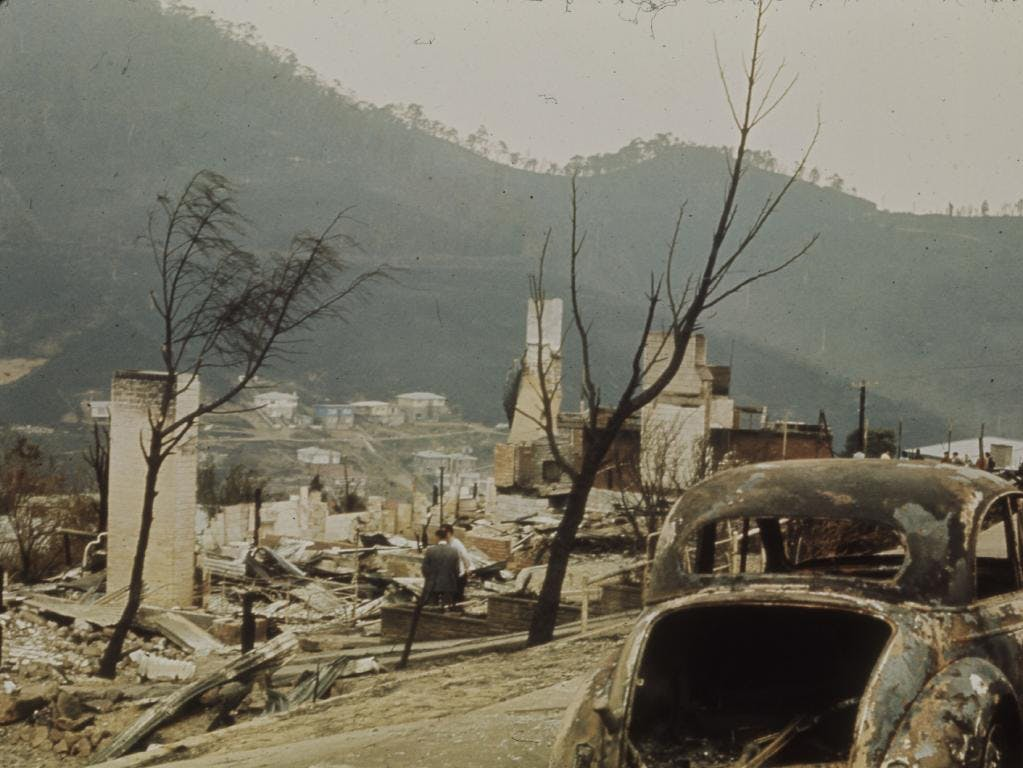 Daily Telegraph image, 1967 bushfire.