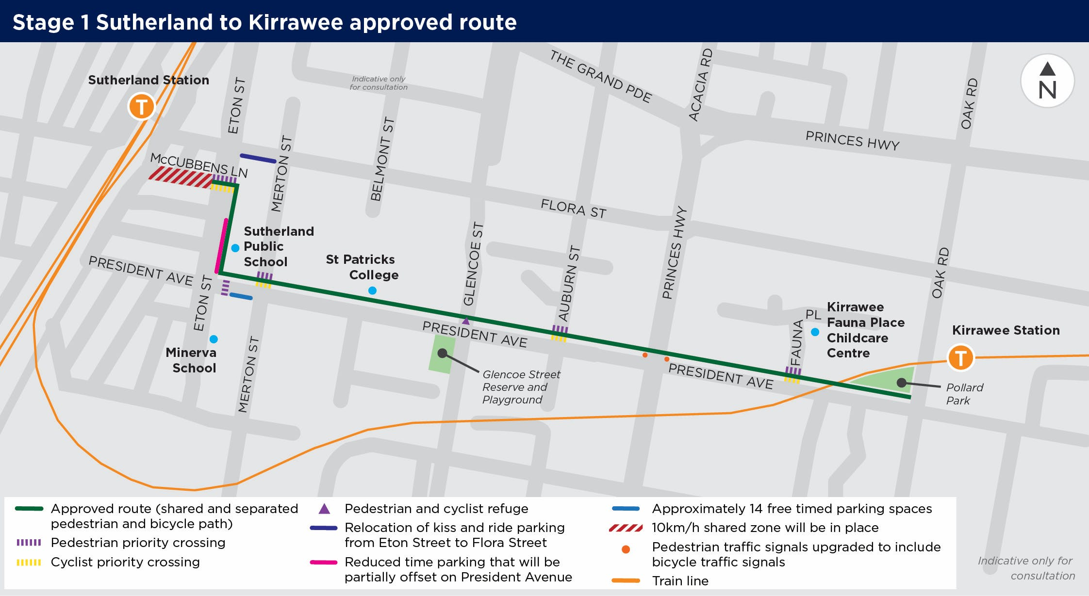 Stage1 Sutherland to Kirrawee approved route