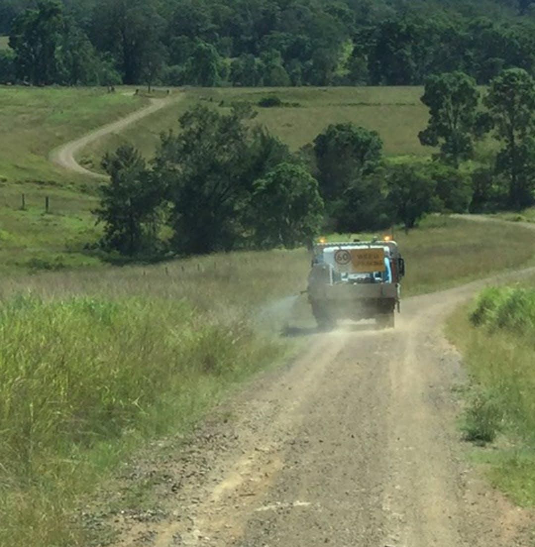 Roadside spraying