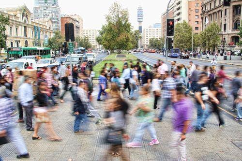 Community crossing the street.