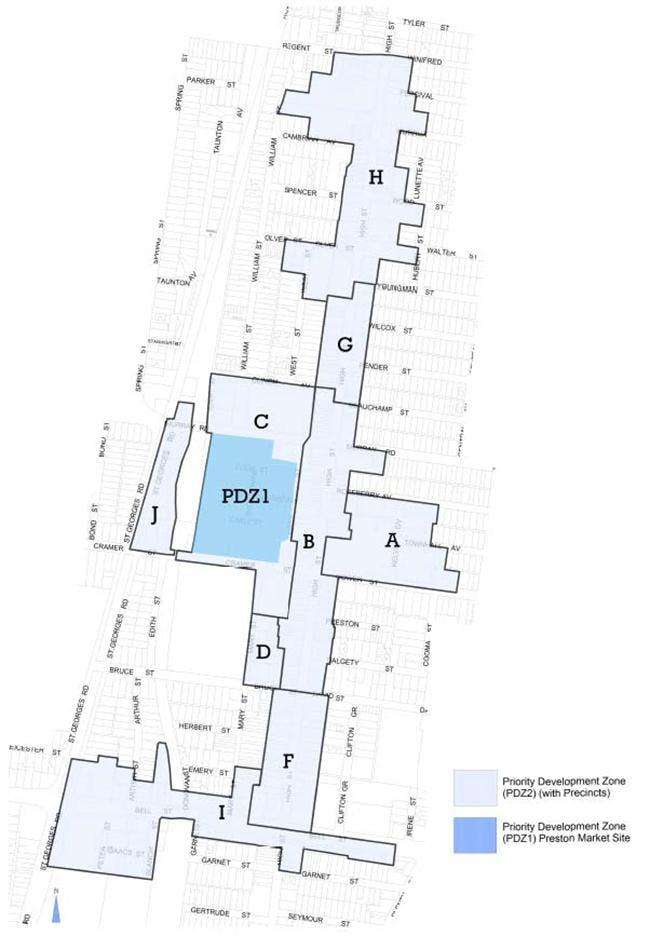 Map - Precinct H (Preston Central)