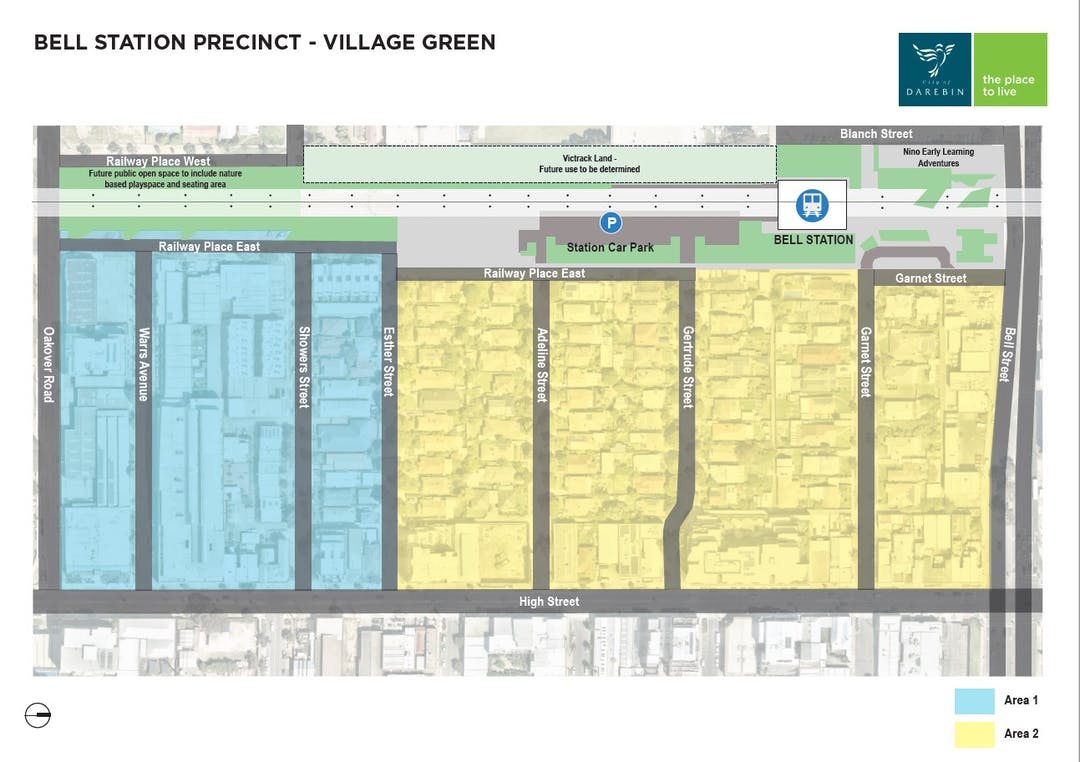 Map of the Bell Precinct Village Green area