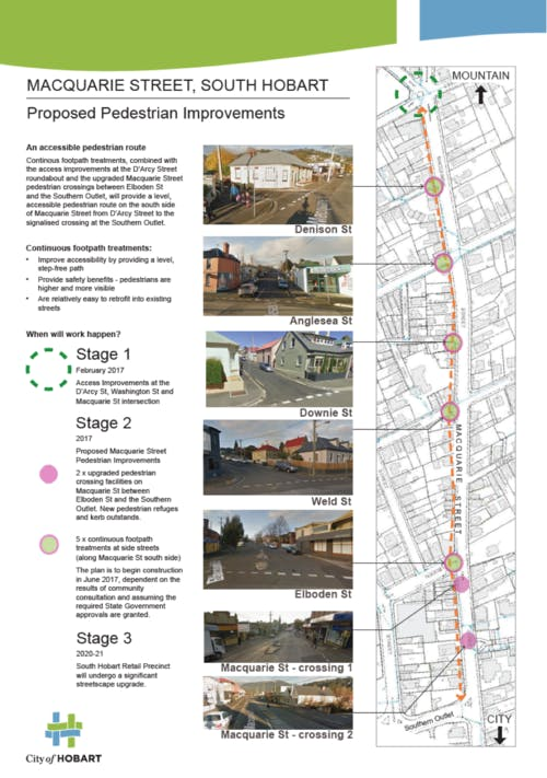 Proposed pedestrian movements