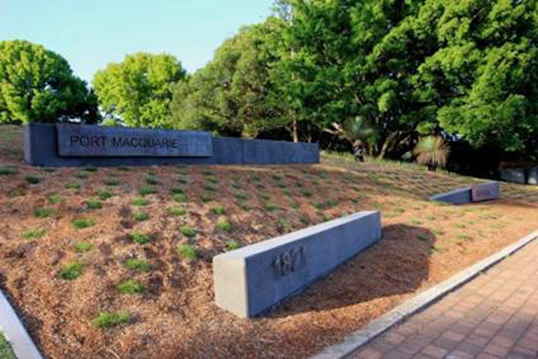 Gardening works in progress at Port Macquarie Historic Cemetery