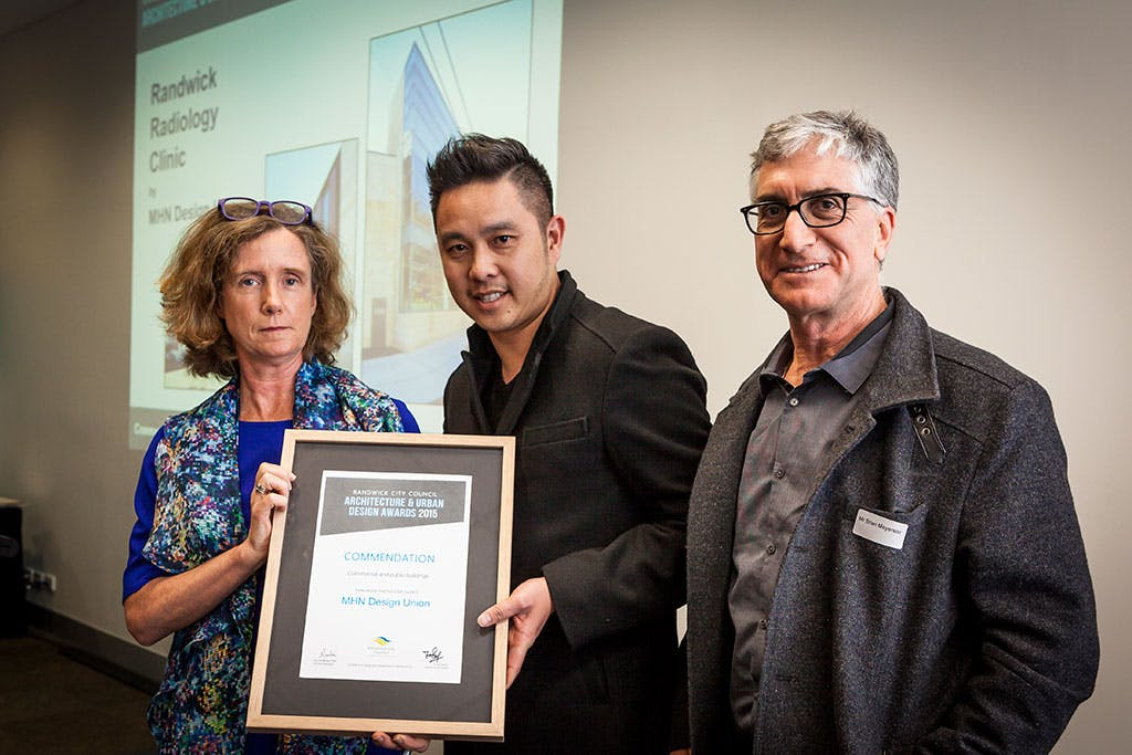 commendation award – commercial and public buildings category – Randwick Radiology Clinic by MHN Design Union.