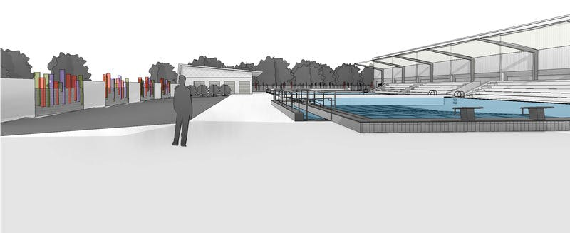 Aquatic redevelopment to kick off in early 2014 have for 50m pool design