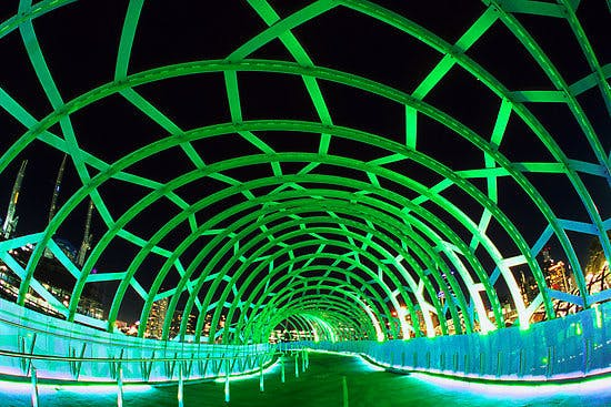 Draft Concept Image Only - Light Installation at Entrance