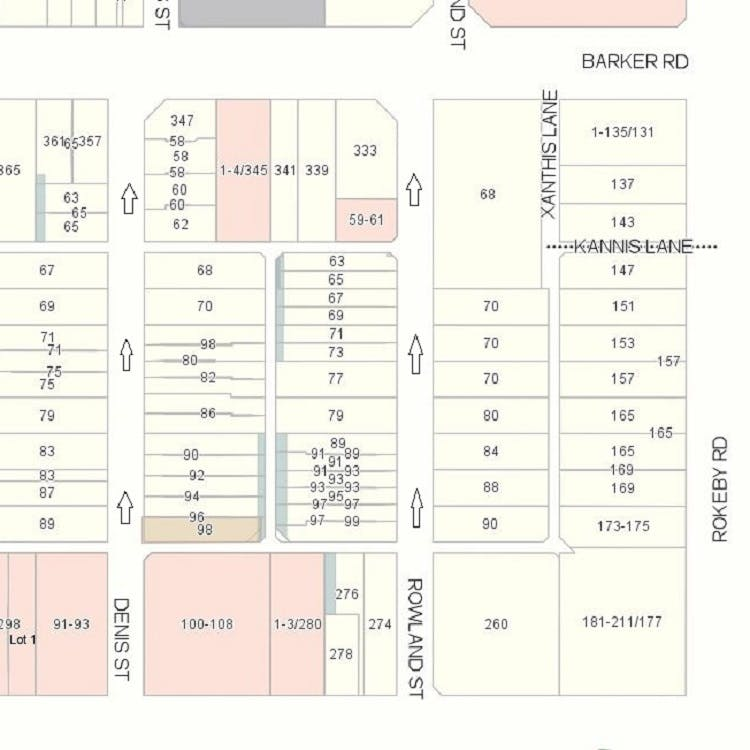 Rowland Street one-way trial map