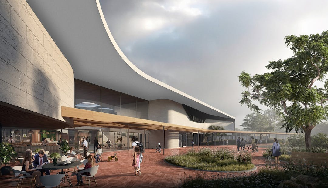 Artist impression of the front entry to the Wulanda Convention and Recreation Centre