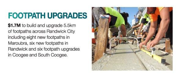 Footpath upgrades