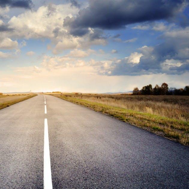 Road asphalt space sky 56832