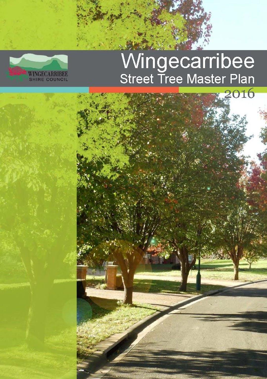 Title page - Street Tree Master Plan 2016