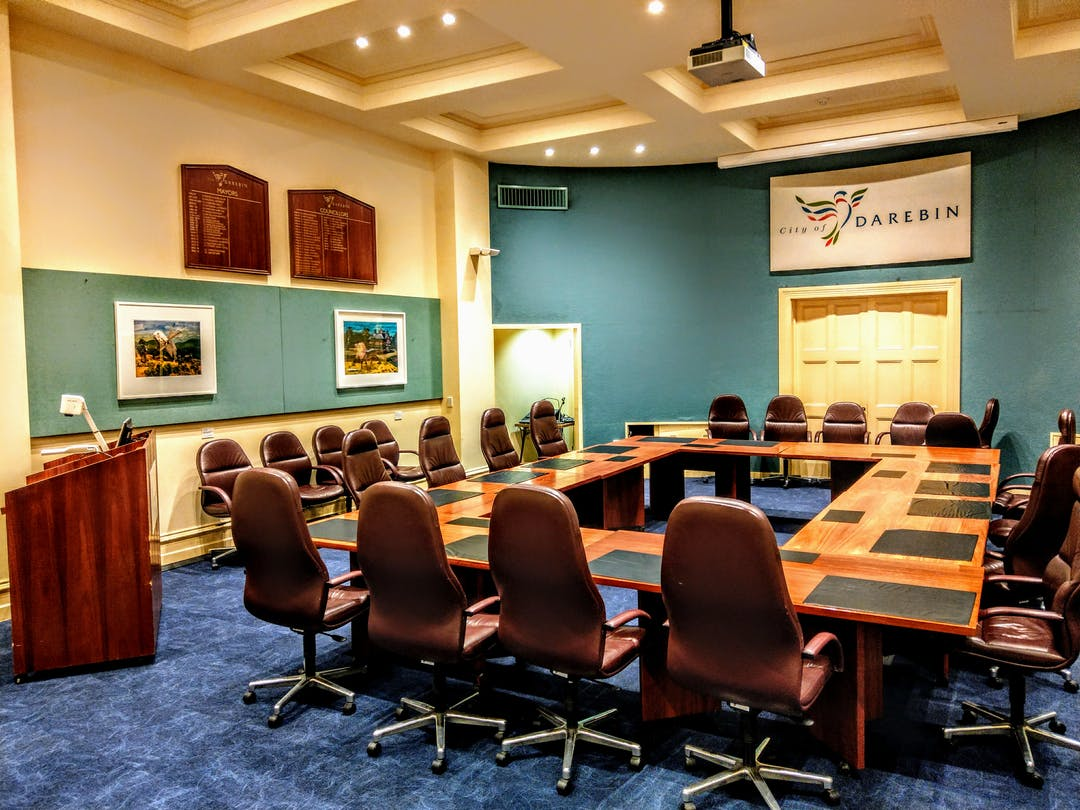 Darebin Council Chambers is located at 350 High Street Preston. It is where Council Meetings are held.